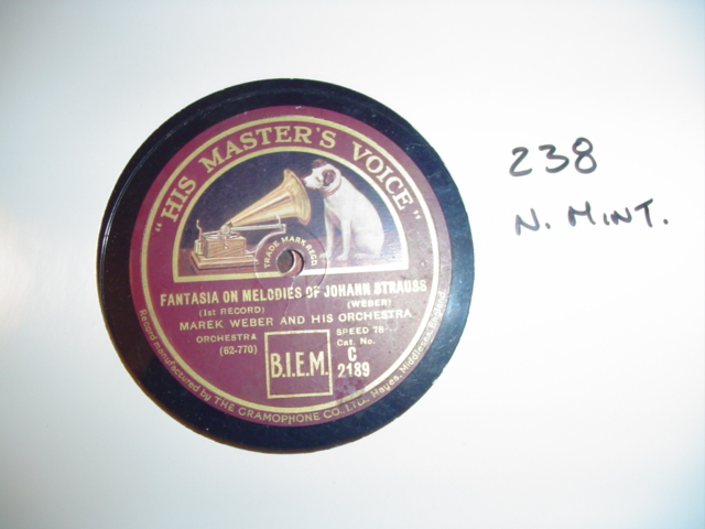 MAREK WEBER - MELODIES OF STRAUSS HMV C2189 { 238